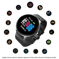 Men Woman Smart Sport Digital Watch Blood Pressure Heart Rate Camera Music Clock Bracelet Spanish Russian Electronic Smartwatch