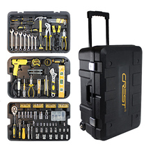 255-in-1wrench combination tool three-layer trolley toolbox set pliers Multi-Function household car repair Free Shipping