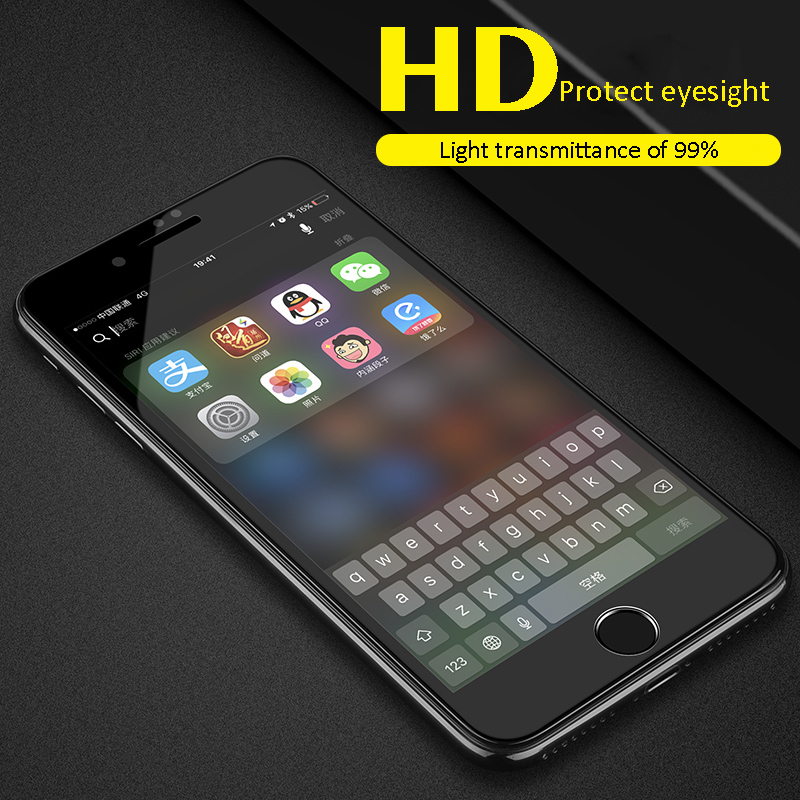 6D Full Cover Tempered Glass For iPhone 6 glass 6s 7 8 Plus X XR XS MAX Screen Protector iphone 7 glass Curved Edge Protection 2