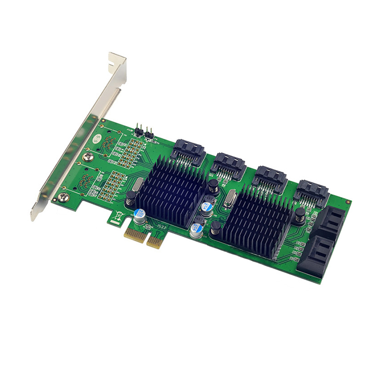 PCI-E to 8 Ports SATA 3.0 6Gb/s Expansion Card 88SE9215+9705 Chipset for Marvell 8 sata3 PCIE