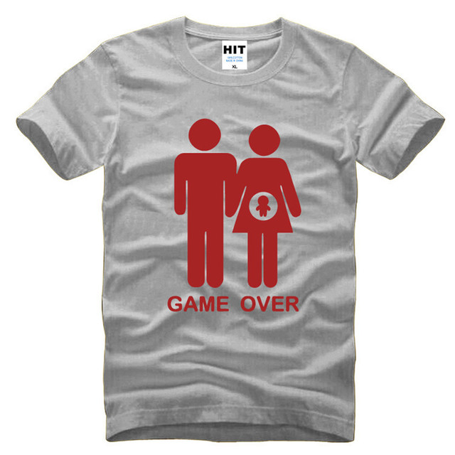 Game over baby shower invitation funny novelty mens men t shirt t game over baby shower invitation funny novelty mens men t shirt t shirt 2016 new filmwisefo