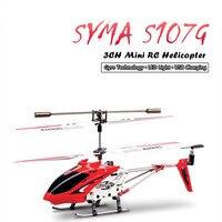 SYMA S107G Mini Drones Original 3CH Gyroscope Intégré Télécommande RC Jouet Volant En Métal Alliage Fuselage Hélicoptères Mini Copter