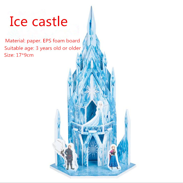 Disney Princess Frozen Sofia The First 3D Puzzle Children Model Paper House Drawing Castle Educational Toys For Children Toy