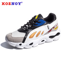 Koznoy Sneakers Women Autumn Winter Leisure Students Dropshipping Muffin Bottom Fashion Breathable Thick Shoes