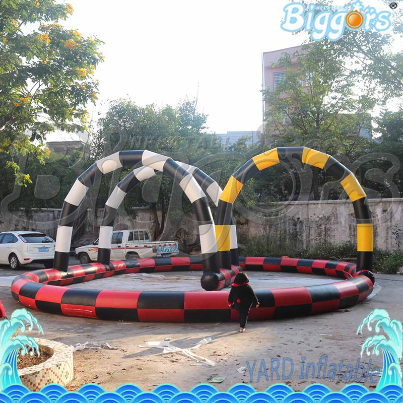 Inflatable Race Car Circuit For Karting Games Giant Race Tack Sports Games Inflatable Air Race Track kids play outdoor sports games go kart race air track for balls inflatable race track
