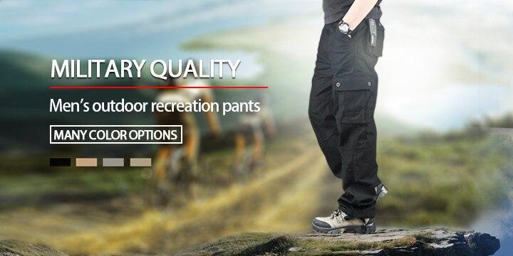 dc61e872b8 Pantalones de carga de los hombres para los hombres pantalones de  entrenamiento militar al aire libre casual algodón camuflaje pantalones  tácticos más ...