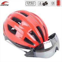 Custom Design Detachable Visor Goggles Shield Bicycle Helmet Adult Cycling Helmet With CE CPSC Approved