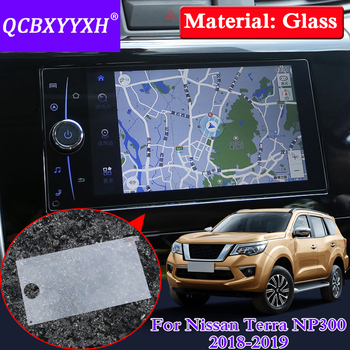QCBXYYXH For Nissan Terra Navara NP300 Car Styling GPS Navigation Screen Glass Protective Film Dashboard Display Protective Film image