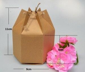 Image 2 - Оптовая крафт бумажная коробка с веревкой маленькие подарочные коробки для бутика выпечки печенья/конфеты упаковочная коробка картонная коробка 50 шт