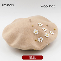 Zminors Brand Wholesale Wool Knit Hat Fashion Beret Winter Women Hat Cap New Arrival 2017 Christmas