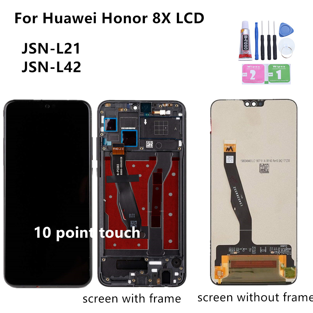 """6.5"""" For Huawei Honor 8X LCD Display Touch Screen Digitizer Assembly LCD Display Touchscreen For Honor 8X Repair Parts"""