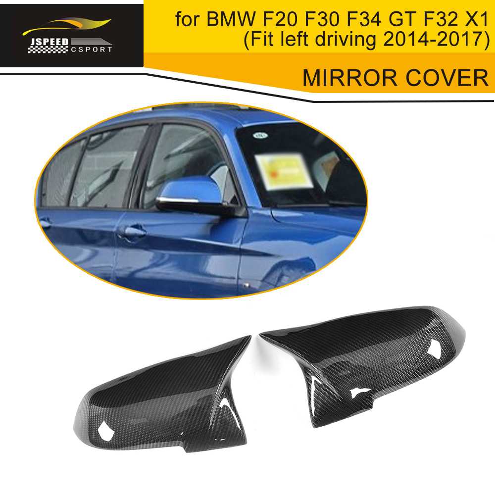 1 Series Carbon Fiber Side Car Mirror Covers Caps For BMW F20 Hatchback 12-17 Coupe 4 Door regular And M Sport LHD Non M f20 carbon fiber replace car mirror cover cap trim for bmw f20 auto styling 2012 2014