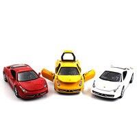 1:32 Auto model kinderen speelgoed Terug naar power Geluid en licht Ferra 458 multi-color optionele Kinderen zoals de gift