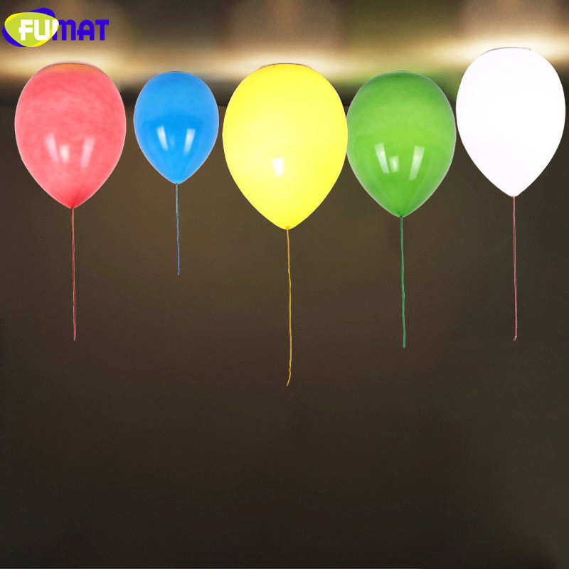 FUMAT Modern Balloon Ceiling Lights Creative Children Bedroom Lamps Colourful Glass Art Decoration Light Fixture Balloon Lamp creative star moon lampshade ceiling light 85 265v 24w led child baby room ceiling lamps foyer bedroom decoration lights