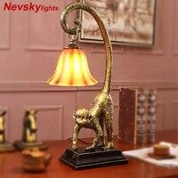 Monkey lamp lamparas de mesa para el dormitorio bedroom lamp vintage table lamps for bedroom art deco bedside lamp vintage light