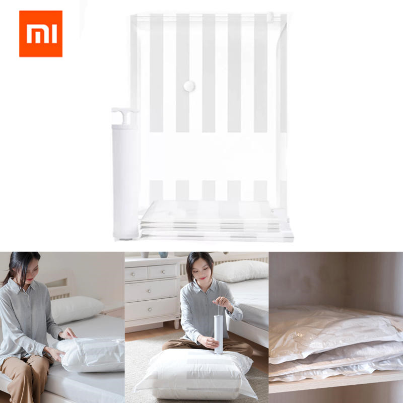 Xiaomi Mijia 5/1 Vacuum smart Bag Folding Scan QR Code Storage smart Bag Sealed Clothes Compression Organizer Pouch to Phone AppXiaomi Mijia 5/1 Vacuum smart Bag Folding Scan QR Code Storage smart Bag Sealed Clothes Compression Organizer Pouch to Phone App