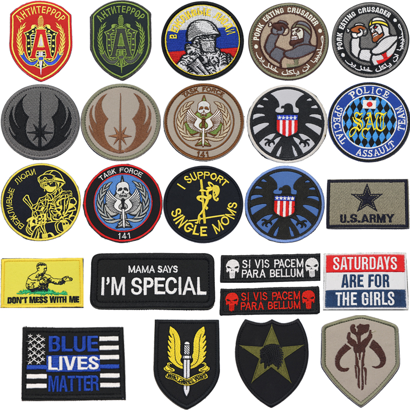 3D Military Patch Mom Says I Am Special To Protect Our Patch Embroidered Morale Armband Badge Clothes Bag With Hook And Loop