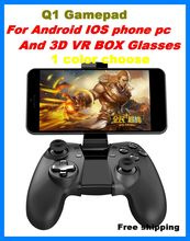 Bluetooth wireless Q1 pro game remote controller for mobile phone ios / android / pc 3D VR Glasses bluetooth gamepad game handle
