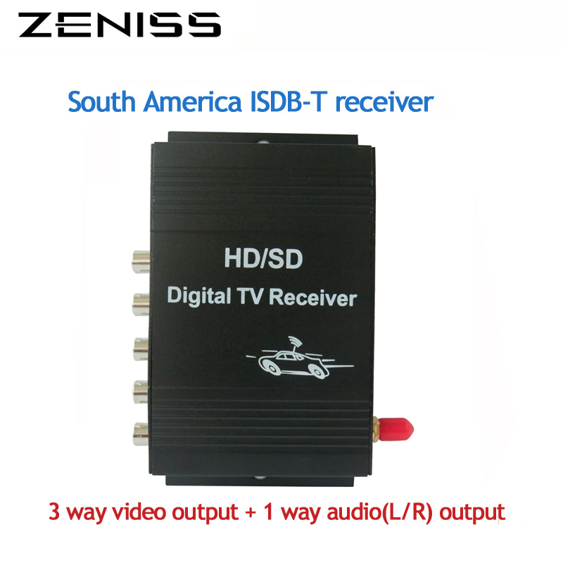 ZENISS Mobile ISDB-T for Car DVD Car Digital TV ISDB T Turner Receiver Box for Car 2 din dvd For For Brazil South America isudar digital tv receiver for car tv tuner isdb t 2 way video out put for japan brazil south america free shipping