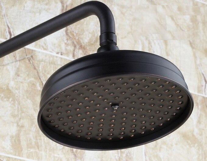 Black Oil Rubbed Brass 8 inch Bathroom Rainfall Shower Heads Csh003