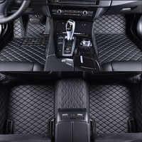 Esteiras do assoalho do carro para volvo c30 s40 s60 s60l s80 s80l v40 v60 xc60 xc90 c70 accessorie estilo do carro personalizado pé esteiras