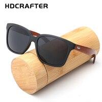 New Fashion Bamboo Sunglasses Men Sun Glasses Brand Designer Women With Wood Box Original Eyewear Oculos