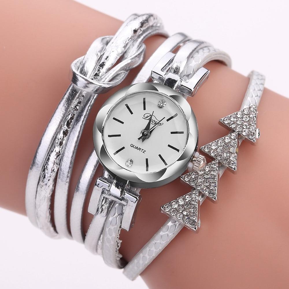 Best Sale 2018 Fashion Womens Bracelet Vintage Weave Wrap Quartz PU Leather Gift Casual Wrist Watches lady watch Relogio Feminin