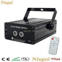 Mini RG 2 Lens 24 48 Patterns Remote Laser Projector Effect Stage LED Light Show For
