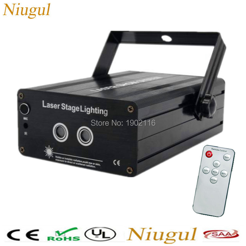 Mini RG 2 Lens 24/48 Patterns Remote Laser Projector Effect Stage LED Light Show For KTV DJ Disco Party Lighting red green laser new hot 2 lens ceiling lamp laser light stage light dj disco stage 150mw rg recessed laser dj pro show lighting