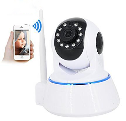 1080P WiFi wireless IP security camera, pan / tilt, two-way audio and night vision home surveillance cameras