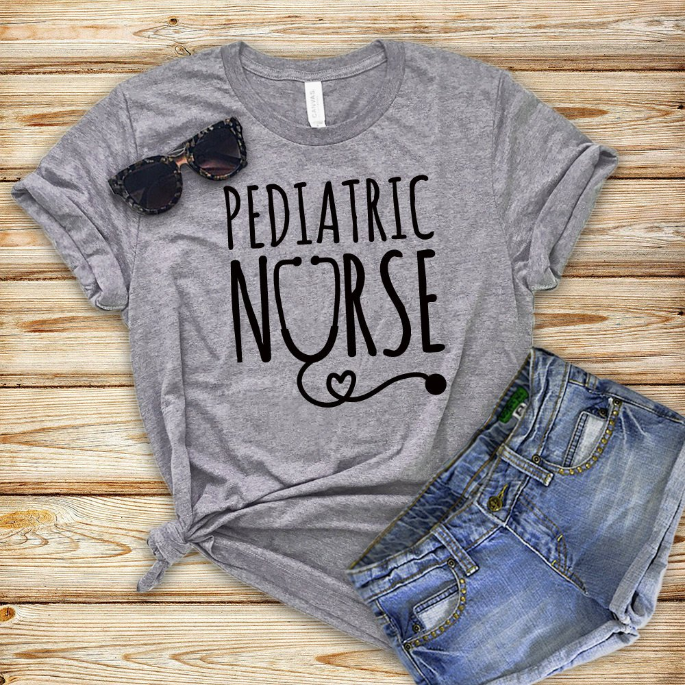Pediatric Nurse Letters Women Tshirt Cotton Casual Funny T Shirt For Lady Girl Top Tee Hipster Tumblr NA-84
