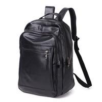men's shoulder bag cowhide backpack men Genuine Leather laptop backpack student school bag male bagpack Travel back pack Mochila