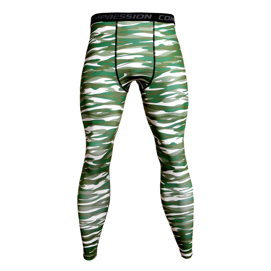 Camouflage Army Green Joggers Leggings Men Quick Dry Compression Pants Gyms Fitness Tights Sportswear Casual Crossfit Trousers