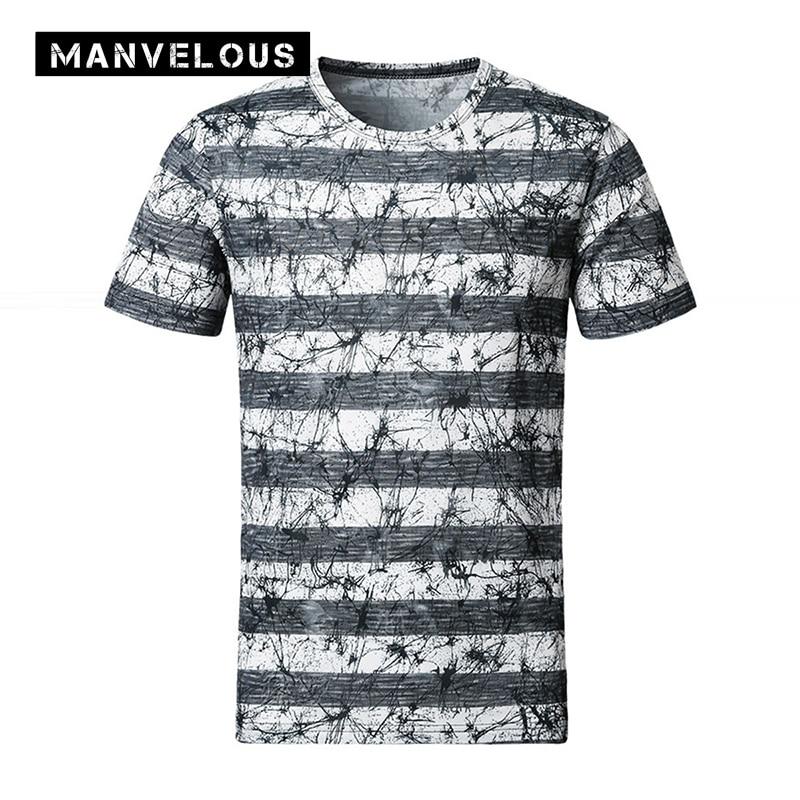 Manvelous 5 XL Mens T-shirt Mercerized Cotton Short Sleeve Casual Men Brand...