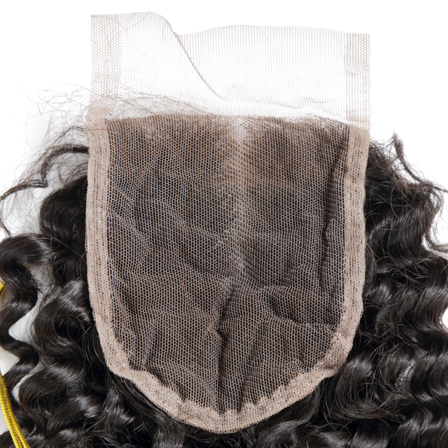 28 Inch Deep Wave Bundles With Closure Peruvian Remy Curly 100% Human Hair Water Wave 3 4 Bundles Weave And Lace Closure