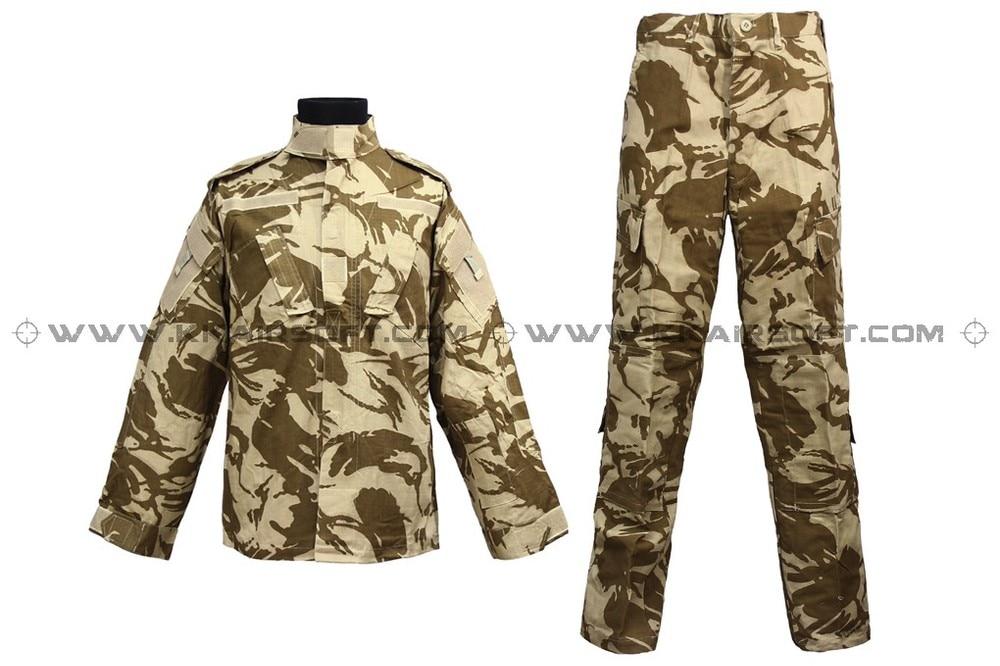 Uniforme militaire de l'armée américaine pour les hommes costume de l'armée vêtements CL-02-BD du désert britannique