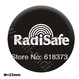 2016hot product realy work have test by Morlab lab shiled Radisafe 99.8% Radi Safe anti radiation sticker 200pcs/lot