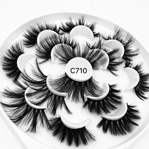 Image 3 - 3/5/7/13Pairs3D 밍크 헤어 가짜 속눈썹 15 25mm 속눈썹 두꺼운 긴 전경이 푹신한 수제 잔인한 밍크 속눈썹 메이크업 도구