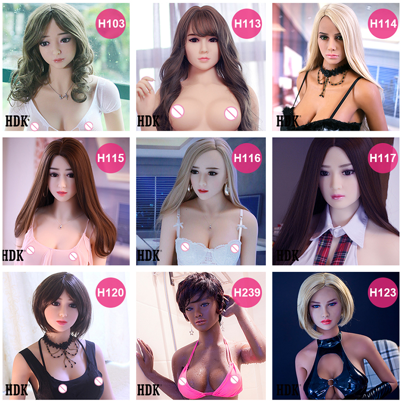 Hanidoll Sex Dolls Head Height 140cm 170cm Real silicone Love Doll Heads With Oral New Sex