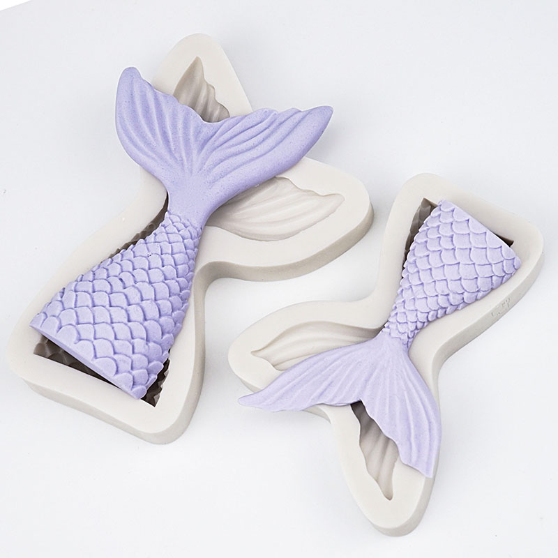Image 2 - 3D Mermaid Tail Cake Silicone Mold Sea Shell Starfish Fondant Molds Cake Decorating Tools Sugar Craft Chocolate Mold Baking Tool-in Cake Molds from Home & Garden