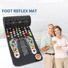 Réflexologie pierre pied acupression tapis de Massage soulagement de la douleur pieds marche masseur marche pierre pied tapis de Massage tapis pied Spa masseur