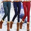 Осень и зима Корейский тонкий был тонкий плюс толстый бархат натяжные джинсы 9 цвета плюс размер карандаш брюки женщин брюки MZ991