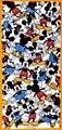 2 Pcs Bonito Mickey Mouse de pelúcia de Algodão Macio Toalhas de Rosto Toalha 76*34 CM para Crianças Meninas do Dia Das Bruxas Natal Toalhas de Presentes de aniversário