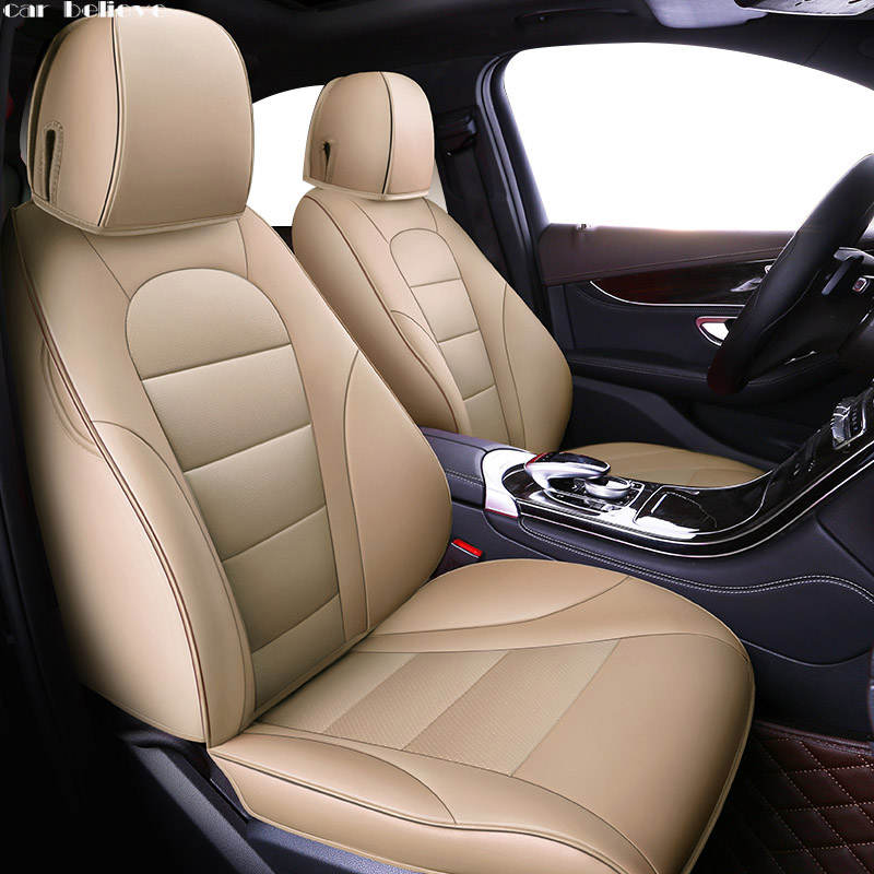 Car Believe leather car seat cover For honda civic 2006-2011 cr-v accord 7 city FIT car accessories covers for vehicle seat for honda civic accord crv xrv fit brand black luxury soft leather car seat cover front and rear complete set cover for car seat