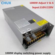 купить 1000W 48v Switching Power Supply Digital display Adjustable DC 0-12v 24v 36v 60V 80V 120V 220V Digital SMPS LED Power Supply онлайн