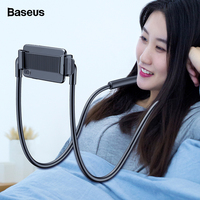 Baseus Flexible Lazy Neck Phone Holder Stand For iPhone Samsung Xiaomi Tablet Cell Phone Desk Mount Bracket Mobile Phone Holder