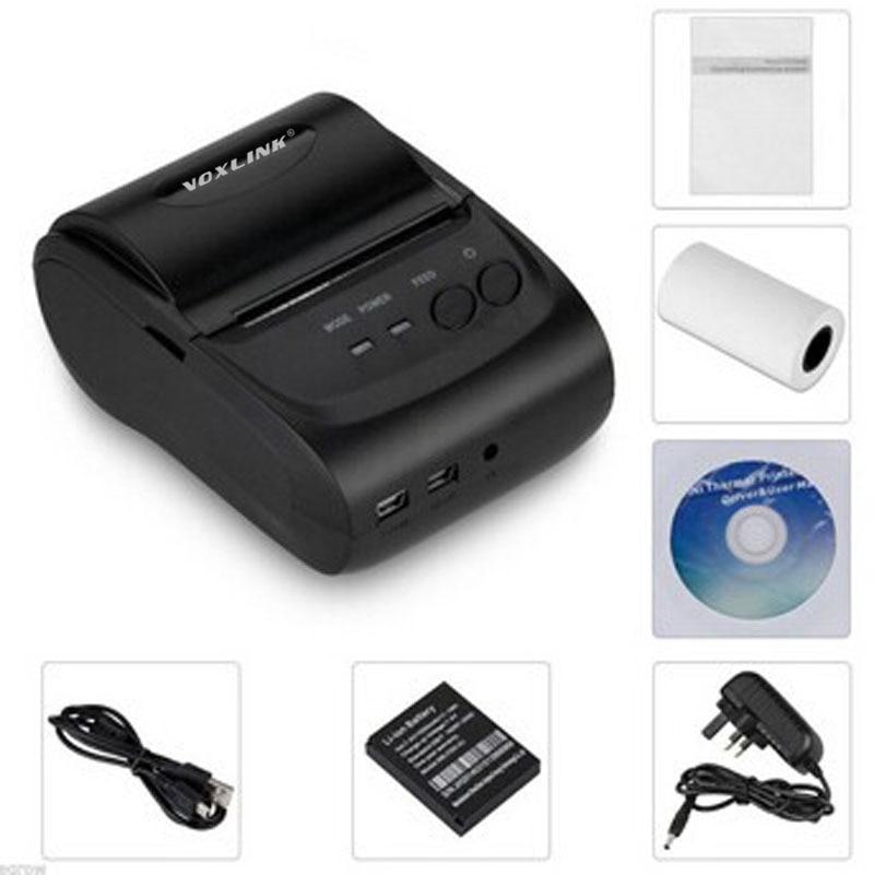 Portable 58mm Thermal Bluetooth Printer Bluetooth Receipt Printer USB / serial port for Windows Andriod Mobile Phone POS Printer цена 2016