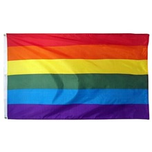 Xiangying 90*150cm LGBT Rainbow lesbian Gay Pride Flag For Decoration