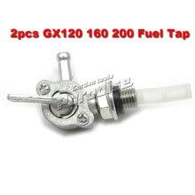 Gasoline Generator Fuel Shut On Off Valve Switch Tap for Honda 168F GX120 GX160 GX200 390 Water Pump Engine Fuel Tank Parts 2PCS