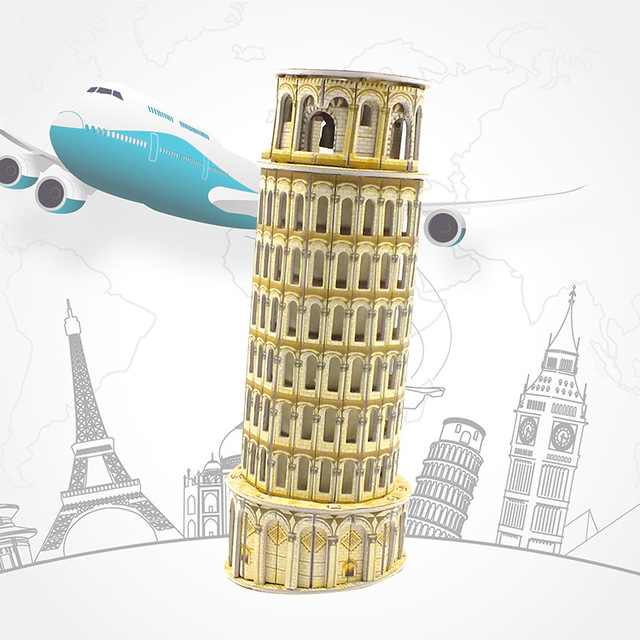 3D Puzzle DIY Model Kids Toy Italy Building Style Leaning Tower Of Pisa 3d